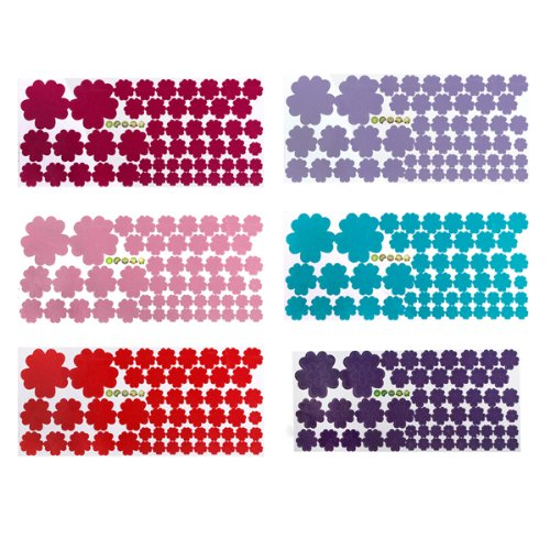 Preisvergleich Produktbild Bluelover Abnehmbare Blumen Aufkleber Kunst Diy Zu Hause Wall Decor Art-Rot