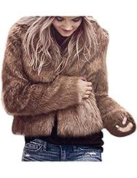 2017 Grande Taille Hiver Chaud Manteau Court Fourrure Manche longue Longra  Femme Ado Chic Outerwear Jacket Doux Épais Confortable… 856447db4140