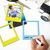 6 x Magnetrahmen / Magnetische Bilderrahmen Fotorahmen color farbig - 6er-Set / Pack magnetische Rahmen in Polaroid-Form mit wegwischbarem Filzstift