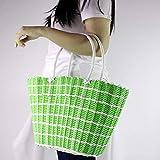 Nn-basket Rattan Körbe Mode Körbe Einkaufskörbe Einkaufskörbe Ablagekörbe Picknickkörbe (grün)