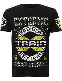 T-Shirt Bad Boy Train Yellow-s MMA BJJ Fitness Grappling Camiseta