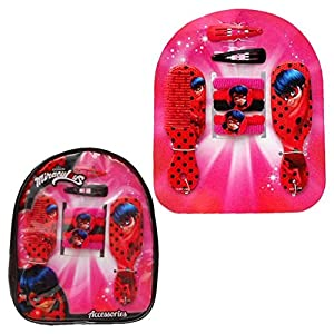 Mochila accesorios pelo Prodigiosa Ladybug 12pz
