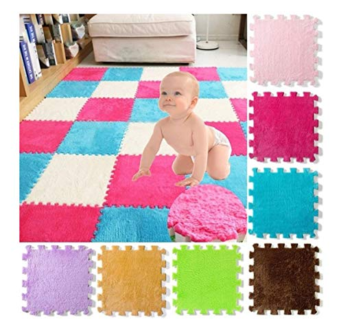 Acecoree Puzzle Spielmatte bunt einzeln Teile , Eva Schaumstoff Kinderteppich,Kälteschutz & abwaschbar Spielteppich Puzzlematten Baby