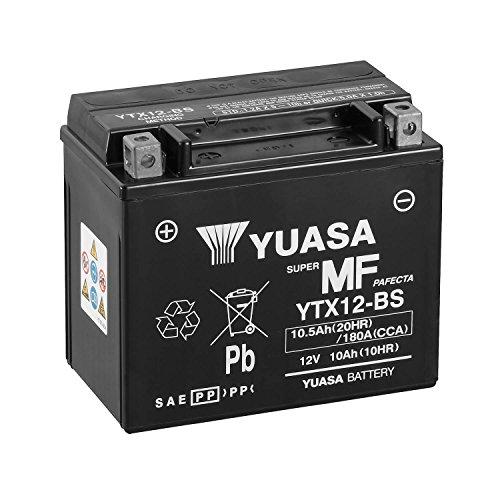 YUASA 61314 - Bateria alta calidad YTX12-BS Combipack (con electrolito)