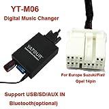 USB SD AUX MP3 Adapter für Suzuki SX4 Swift Grand Vitara Ignis Jimny Liana Wagon R+ - - - - für folgende Radios: PACR01 / PACR02/ PACR03 / PACR04 / PACR05 / PACR06 / PACR07 (Die Bezeichnung steht klein auf der Radiofront)