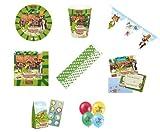 Pettersson & Findus Teller Becher Servietten Wimpelkette Einladungen Luftballons Partytüten Trinkhalme