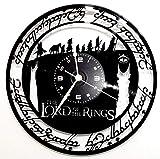 Wanduhr aus Vinyl Vintage-Geschenk Handgefertigt Lord of the Rings - der Herr der Ringe.
