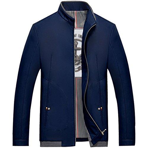 Casual Col De La Veste De Printemps Hommes Minces blue