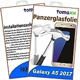 tomaxx Panzerglas für Samsung Galaxy A5 2017 Panzerfolie Glasfolie Displayschutz Brillante Qualität (Achtung: bewusst Kleiner als das Display, da Dieses an Rand gewölbt ist)
