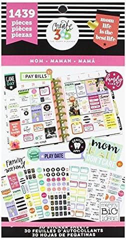 Me & My Big Ideas Mom Vie Stickers, Multicolore