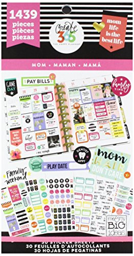 Price comparison product image Me & My Big Ideas Mom Life Stickers, Multi-Colour