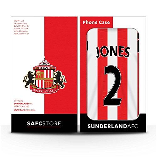 Offiziell Sunderland AFC Hülle / Case für Apple iPhone 7 / Rodwell Muster / SAFC Trikot Home 15/16 Kollektion Jones