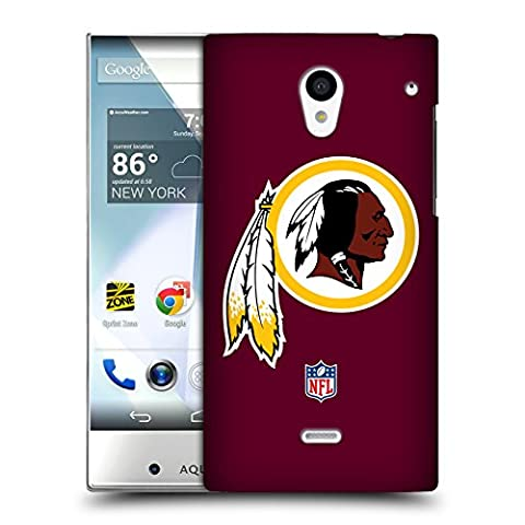 Official NFL Plain Washington Redskins Logo Hard Back Case for Sharp Aquos Crystal 305SH