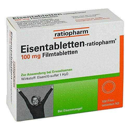 Eisentabletten ratiopharm 100 mg Filmtabletten 100 stk
