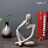 Symboat Statues Escultura Ornamentos Decorativos de Figure Abstracta de gres para el Escritorio de...