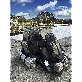 AmazonBasics – Zaino da escursionismo con telaio interno e cerniera antipioggia