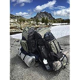 4481ab180b AmazonBasics – Zaino da escursionismo con telaio interno e cerniera  antipioggia