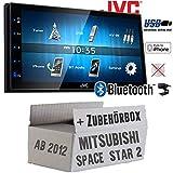 Mitsubishi Space Star 2 ab 2012 - Autoradio Radio JVC KW-M24BT - 2-DIN Bluetooth MP3 USB Autoradio TFT Touch - Einbauzubehör - Einbauset