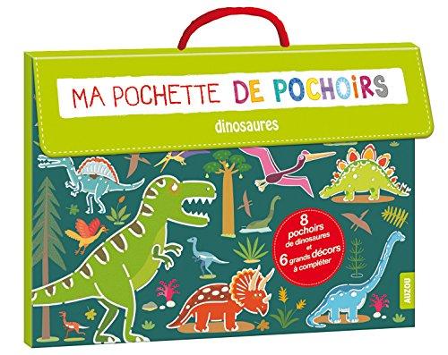 ma pochette de pochoirs - dinosaures (coll. ma pochette d'artiste)