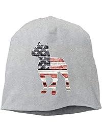 vikkk Patriotic Pitbull Bandera Americana para Mujer para Hombre Gorro de  Lana Suave Gorros elásticos b7582d50b54