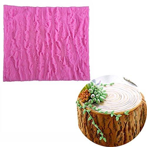 Preisvergleich Produktbild Silikonbackform in Baumrinde-Optik für Kuchen, Schokolade, Fondant, Kekse, Teig, zum Weihnachten, Geburtstag oder Hochzeit