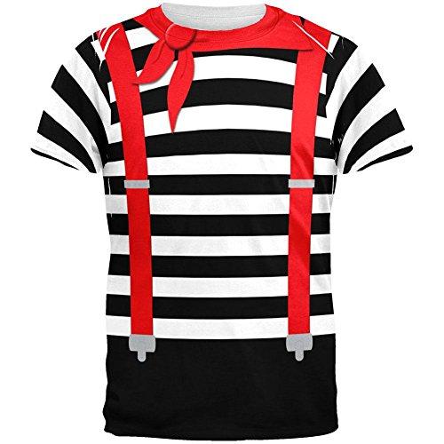 Old Glory Halloween Französisch Mime Kostüm Aller Erwachsenen T-Shirt-X-Large