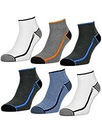 6 oder 12 Paar Herren Sport Sneaker Socken mit verstärkter Frotteesohle - 16215 - sockenkauf24