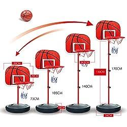 OviTop Panier de Basket Panier Mobile sur Pied Hauteur Réglable de 73cm à 170cm pour Enfant 2-5Ans