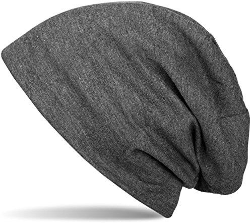 styleBREAKER Klassische Unisex Beanie Mütze mit inliegendem Fleece Stoff, gefüttert 04024008, Farbe:Anthrazit meliert -