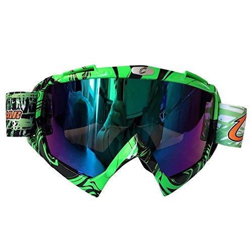 Motocross-Brille Outdoor-Rad-Schutzbrille Schutzbrille Ski-Schutzbrille , green