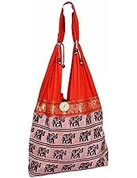 Shopolics Red Elephant Print Shoulder Bag