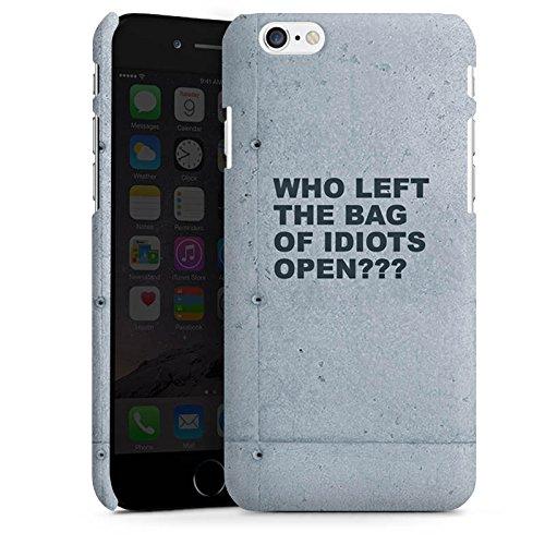Apple iPhone X Silikon Hülle Case Schutzhülle Idiot Spruch Statement Premium Case matt