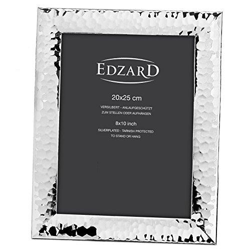 EDZARD Fotorahmen Gubbio, edel versilbert, anlaufgeschützt, für Foto 20 x 25 cm