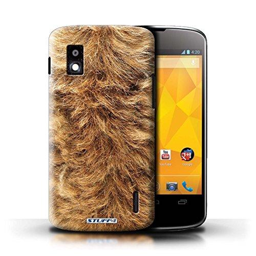 Kobalt® Imprimé Etui / Coque pour LG Nexus 4/E960 / Tigre conception / Série Motif Fourrure Animale Chien