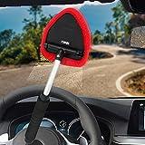 SmartSpec Fenster Reinigen Windschutzscheibe Mikrofaser Stoff Verstellbar Dreieck Auto Reinigungsbürste verlängern Schwarz Griff (Ausziehbar 28–47cm) Auto Reinigen Werkzeug