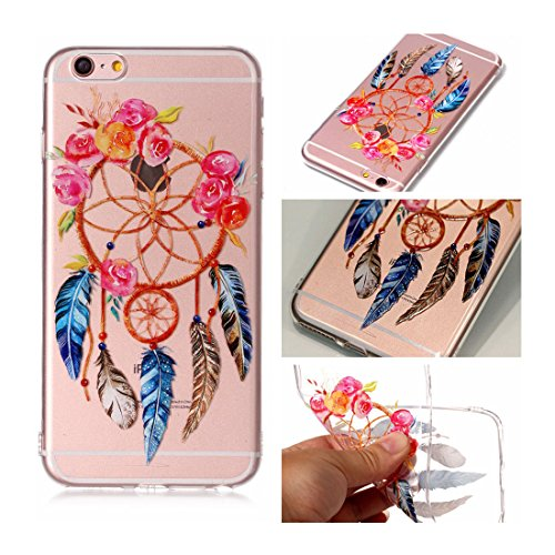 iPhone 6s Custodia, Cartoon Dente di leone - TPU Silicone Trasparente Nuovo Gel Soft Case iPhone 6/ 6S Custodia 4.7 durevole Cartoon Cover, Prova di scossa anti-graffio # # 2