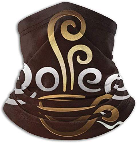 CVDGSAD Fleece Nackenwärmer Gamaschen Sturmhauben Nahtlose Kopfbedeckung Dehnbare Kaffeetasse Willkommen Unisex Kaltes Wetter Winddicht Thermal Re