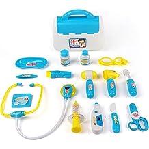 Irady medico koefferchen valigetta da dottore Medical Kits gioco Set Gioco di ruolo per bambini (blu)