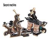 Ametralladora de tatuaje de latón hecha a mano 10 abrigos Bobinas de cobre puro para el trazador de líneas Máquina de tatuaje de bobina temporal-Metal