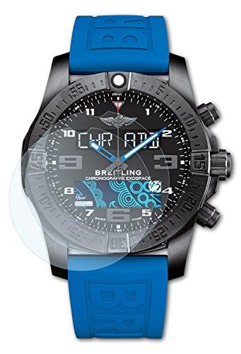 Preisvergleich Produktbild Bruni Schutzfolie für Breitling Supersports B55 Folie - 2 x glasklare Displayschutzfolie