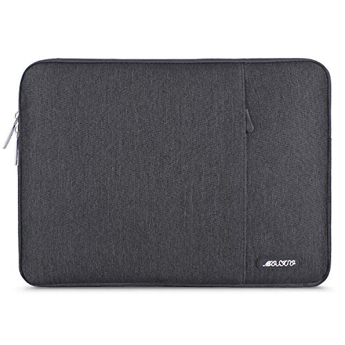 MOSISO Laptop Sleeve Hülle Kompatibel 15,6 Zoll Thinkpad Chromebook Tablet Notebook, Polyester Wasserabweisend Vertikale Stil Sleeve Hülle Laptoptasche Notebooktasche, Space Grau