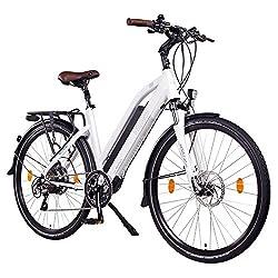 "Ncm Milano Plus 48v, 28"" Zoll Damen & Herren Urban E-bike, 250w Das-kit Heckmotor, 14ah 672wh Panasonic Li-ion Zellen Akku, Hydraulische Scheibenbremsen, 8 Gang Shimano Schaltung, Weiß"