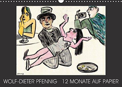 Wolf-Dieter Pfenning - 12 Monate auf Papier (Wandkalender 2017 DIN A3 quer): Dieser Kalender begleitet Sie mit 12 Blättern des Potsdamer Künstlers ... das Jahr. (Geburtstagskalender, 14 Seiten ) por Wolf-Dieter Pfennig