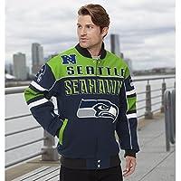 "Seattle Seahawks Men's NFL G-III ""Blitz"" Premium Cotton Twill Jacket"