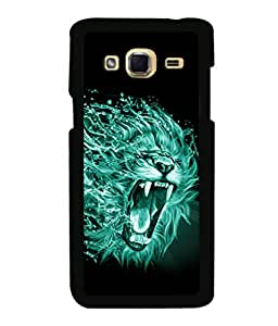 printtech Lion Nature Design Back Case Cover for Samsung Galaxy J3 Pro