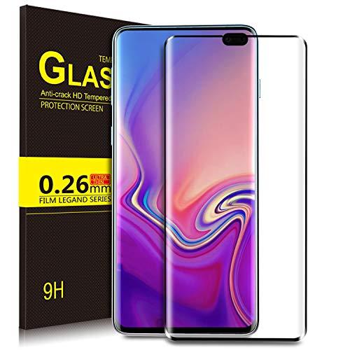 KuGi. per Samsung Galaxy S10 Plus Pellicola, Pellicola Protettiva [Anti-Riflesso & Anti-Bolla] [Durezza 9H] Applicare Disegnato per Samsung Galaxy S10 Plus Smart Phone (Nero)