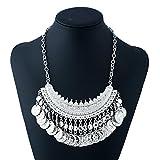 HUALQ Halskette E1117 Mode Metall Trend Joker Münze Mann Kopf Gold Silber gemäßigt Tassel Halskette