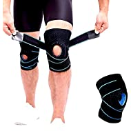 Knee brace for arthritis, ACL and meniscus tear,Open-Patella Stabiliser, Adjustable Brace,Best kneepad support for Sports Injury Rehabilitation & Protection against Reinjury, running, walking, cycling, basketball, gardening
