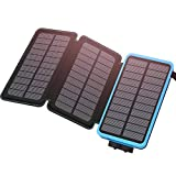 ADDTOP Solar Charger 24000mAh Portable Power Bank, Dual USB Output Waterproof External Battery
