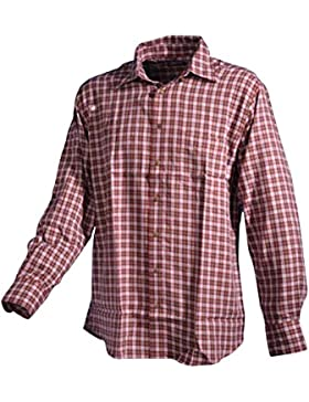 Trachtenhemd rot-weiss Karo Langarm GCM Sports